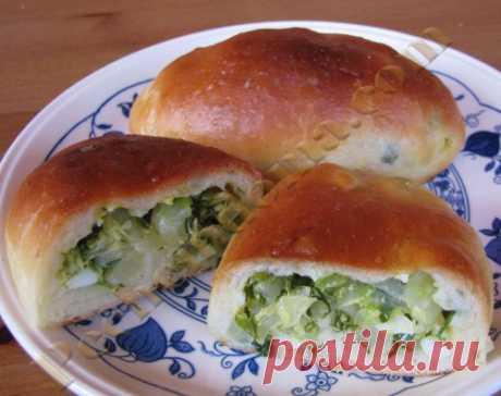 Пирожки с молодой капустой, зеленью и яйцом Рецепты домашней выпечки от Ирины Хлебниковой