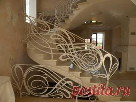 Кованые перила на лестничной площадке и на крыльце: идеи — Сделай сам, идеи для творчества - DIY Ideas