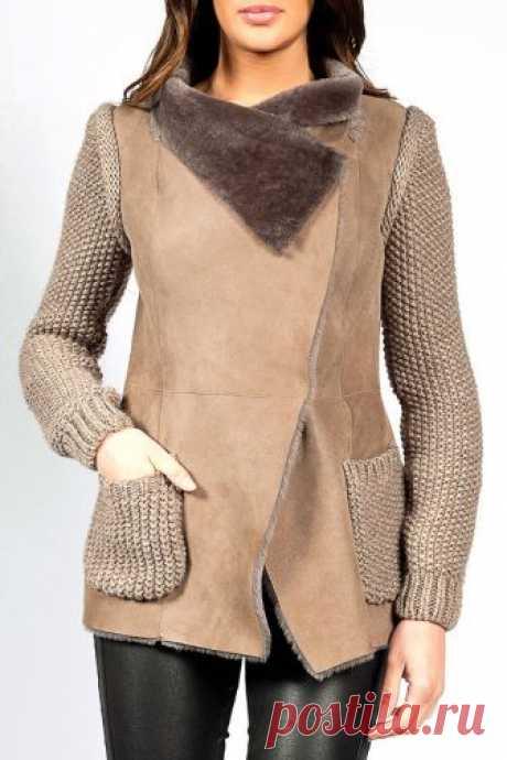 кожаные куртки с вязаными вставками - Поиск в Google