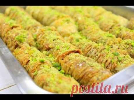 Ни с чем не сравнимая восточная сладость - Турецкая фисташковая пахлава Баклава. Мы ее очень любим и рекомендуем каждому из вас попробовать) Рецепт ниже! Маг...