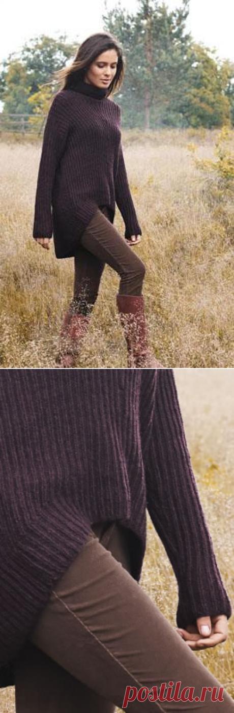 Женский свитер с фигурным нижним краем от FILATI.