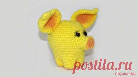 . Встречайте желтую земляную свинью (авторский видео МК Светланы Кононенко) Всем привет!  Мне продолжают поступать заказы на МК на летнюю тематику - просят морского конька, черепашку, дельфинчика, рыбку...
