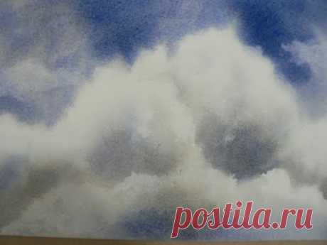 Painting a Cloud in Watercolor - free tutorial - YouTube