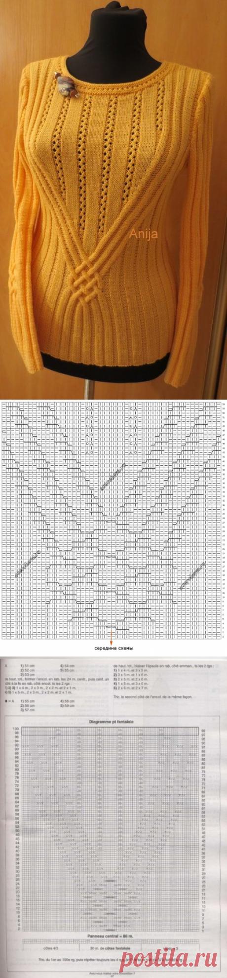 узор 436 мотив с аранами| каталог вязаных спицами узоров