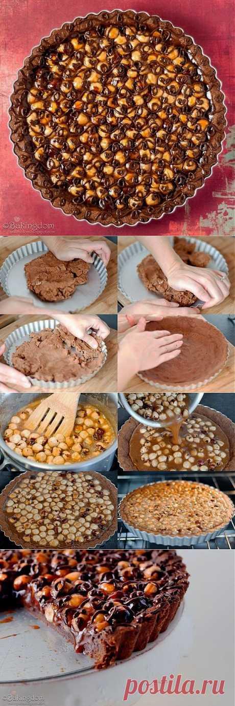 Шоколадный тарт с фундуком | Готовим вместе