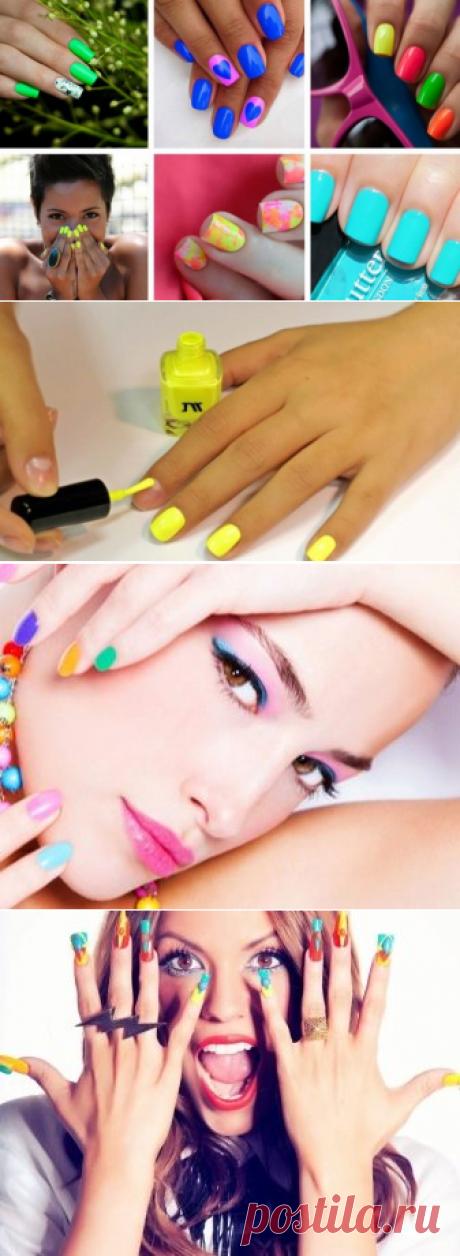 Кислотный маникюр (39 фото): дизайн ногтей яркого цвета
