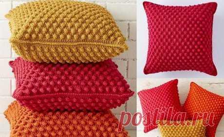 Мягкие и уютные вязаные подушки — Сделай сам, идеи для творчества - DIY Ideas