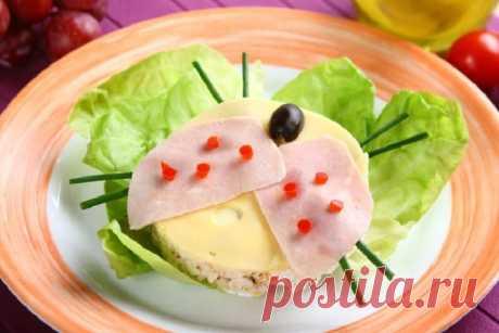 Бутерброды божья коровка – пошаговый рецепт с фото.