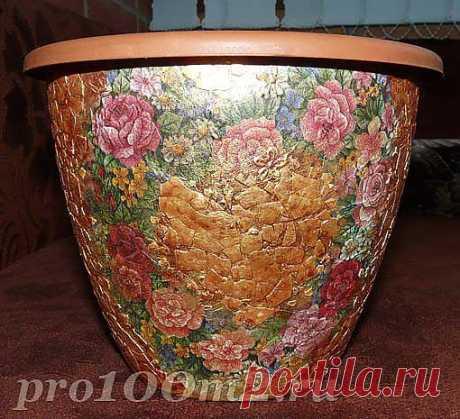 Красивая ваза своими руками.