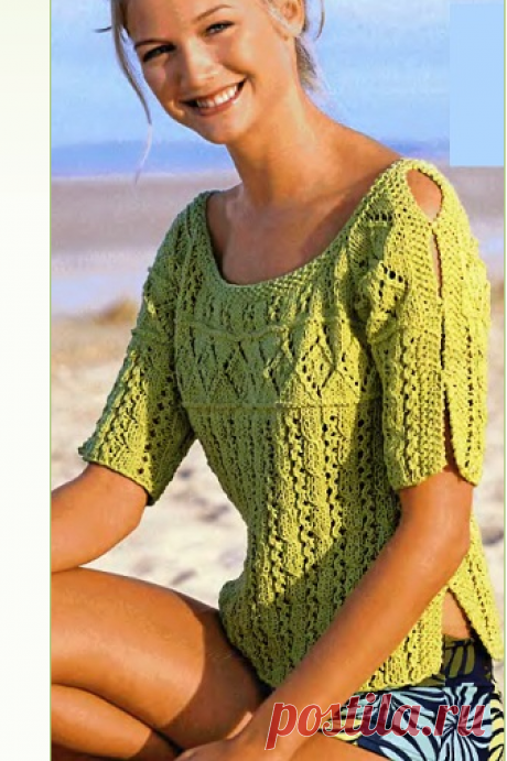 Вязание спицами - пуловер