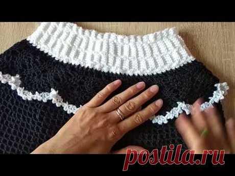 Как красиво обвязать подол юбки или другое изделие.