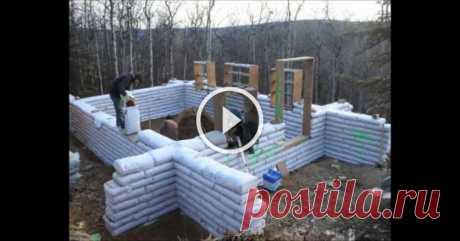 Опыт строительства домов из мешков — 6 соток