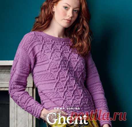 Вязаный рельефный пуловер Ghent - Хитсовет