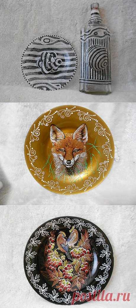 Точечные шедевры на тарелках