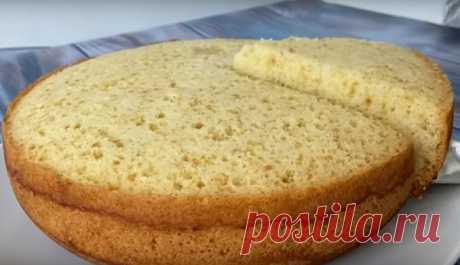 Простой и пышный бисквит (готовим в мультиварке)