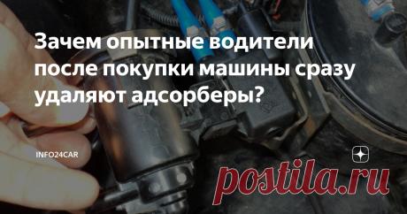 Зачем опытные водители после покупки машины сразу удаляют адсорберы?