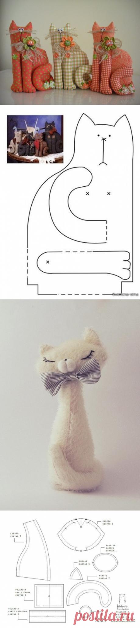 Кошечки-коты из лоскутов — Рукоделие