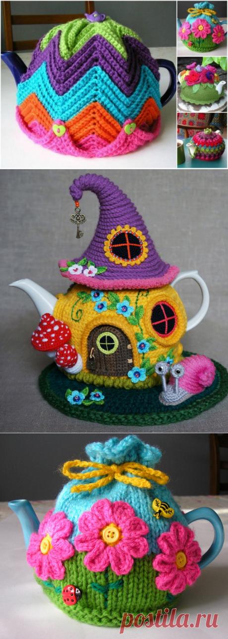 Изумительно! 20 идей самодельных вязаных грелок для чайника… — БУДЬ В ТЕМЕ