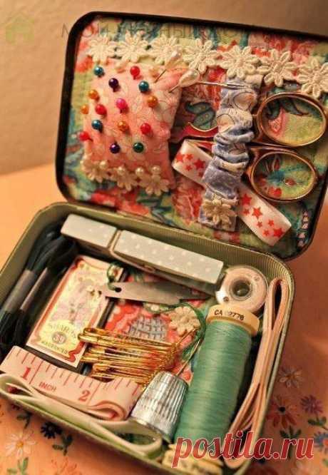 Винтажные коробки для хранения швейных инструментов: идеи для вдохновения
