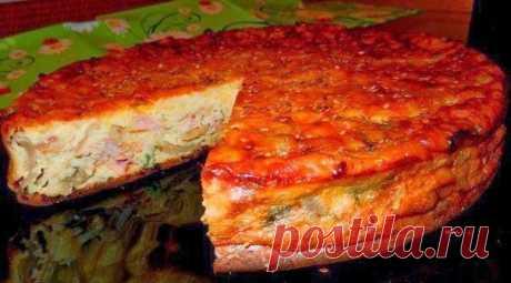 Пирог- сметанник с курицей и грибами