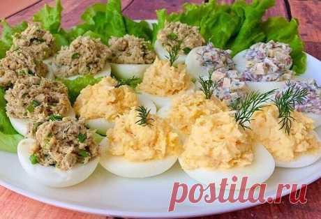 Варианты начинки для фаршированных яиц