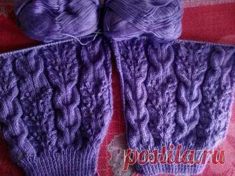 Невероятно красивый ажурный узор с косами для пуловера — DIYIdeas