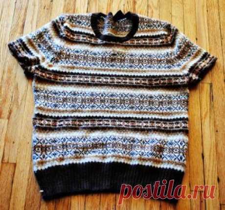 Модная кофточка из свитера, МК | Переделки | Само Совершенство