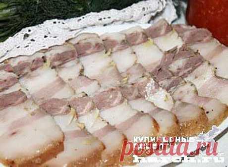 Сало с горчицей в фольге | Харч.ру - рецепты для любителей вкусно поесть