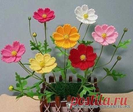 Восхитительные вязаные цветочки