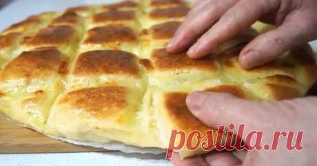 Вкуснейшая тонкая лепешка с сыром за 15 минут с нежнейшим тестом и тягучей начинкой Очень вкусная лепешка! Невозможно оторваться!