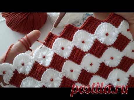 Çok güzel incili ‼Tığ işi incili Örgü Battaniye/patik/Lif/yelek/how to crochet easy knitting