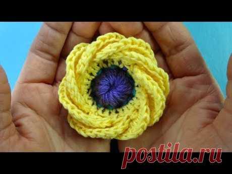 ЭКСКЛЮЗИВ Как связать кувшинку Вязаные цветы How to Crochet flower 101