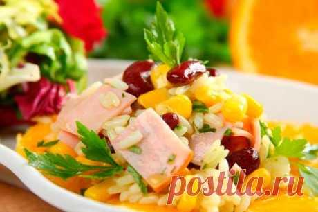 Вкусный салат с апельсином и ветчиной – пошаговый рецепт с фото.