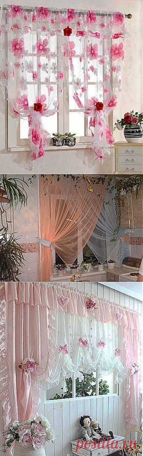 Romantic curtains for your kitchen: gentle and beautiful design - we Learn to Do All to Sami
