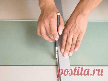 Как правильно и аккуратно обрезать стекло обычным резаком