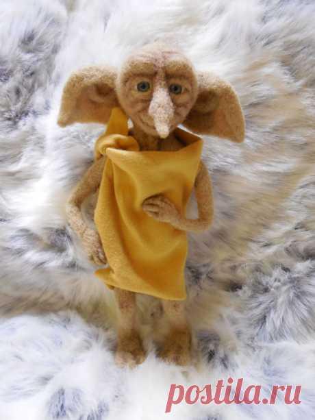 Добби из натуральной шерсти Wolle innen Spielzeug Dobby Hauself Harry Potter