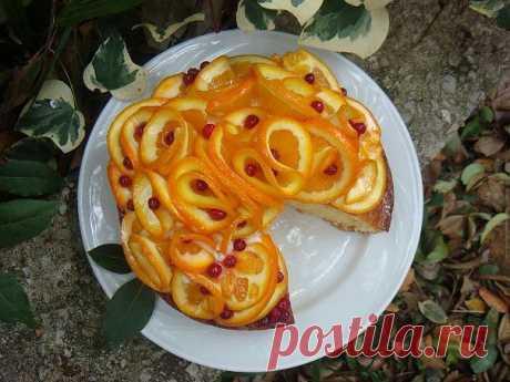 Апельсиновый торт - очень красивый и вкусный