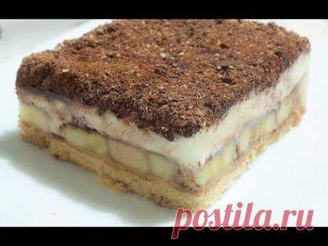 Торт без Выпечки. Потрясающе Вкусный и Быстрый Рецепт