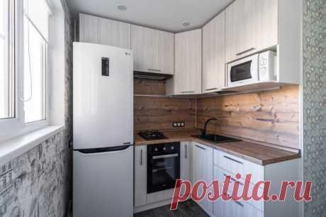 Дизайн кухни 4 кв м: реальные фото и советы по обустройству + примеры с холодильником