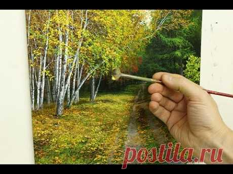 #70 How To Paint Silver Birch Trees Part 3   Oil Painting Tutorial