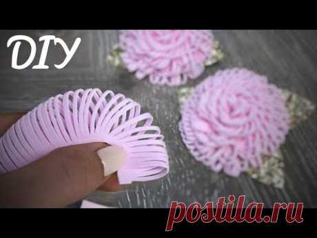 Посмотрите как быстро можно сделать зефир цветок из фоамирана ( Eva)
