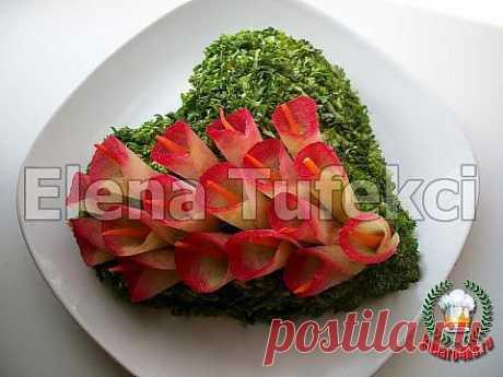 Салат «Цветущая любовь» | 4vkusa.ru