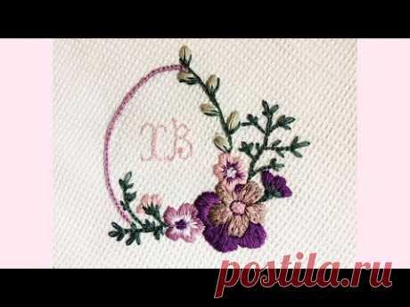 Пасхальная вышивка   Вышиваем цветы
