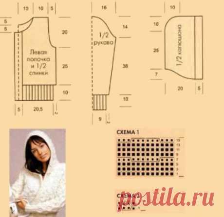 Как связать кофту спицами для начинающих. Схемы с описанием, 44-48-50 размер. Мастер класс реглана сверху для женщин