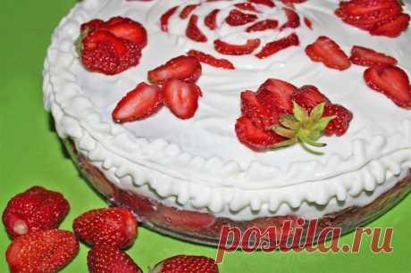 Клубничка творожно клубничный торт рецепт с фото пошагово - 1000.menu