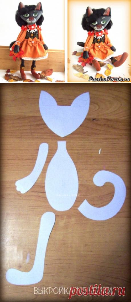 Текстильная куколка Кошка-осень. МК из архива форума | Грунтованный текстиль