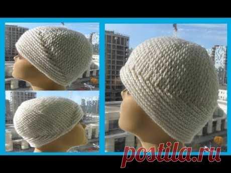 """ШАПОЧКА """"Два узора"""", рельфные столбики,crochet hat (Шапки № 156)"""