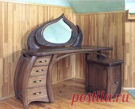 20 идей красивой и необычной мебели из дерева Роскошная деревянная мебель служит верой и правдой долгие годы, к тому же, выглядит восхитительно. А когда обыкновенную мебель, такую как стенка, каркас кровати, стол и стул, шкаф и пр., мастер превращает в уникальную, то от такого произведения искусства действительно трудно отвести взгляд! Оцените...