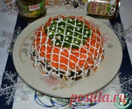 """Салат """"Новогодний переполох"""" Кулинарный рецепт"""