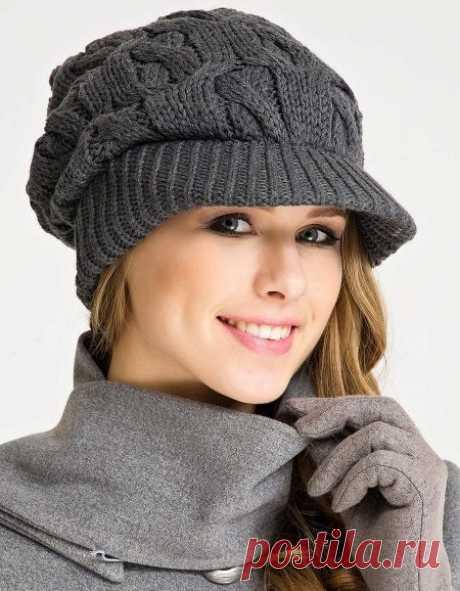Вязаные кепки (44 фото): модели для женщин и девочек с козырьком, теплые и модные